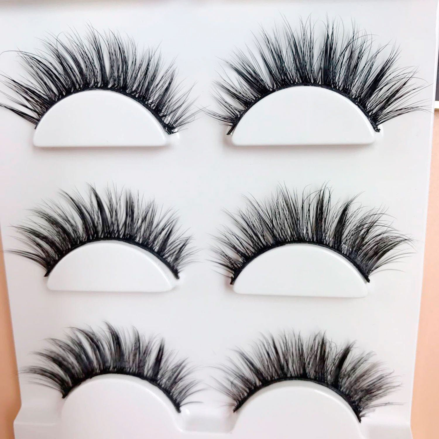 7d77a2ce364 Trcoveric 3D Fake Eyelashes Makeup Hand-made Dramatic Thick Crisscross  Deluxe False Lashes Black Nature