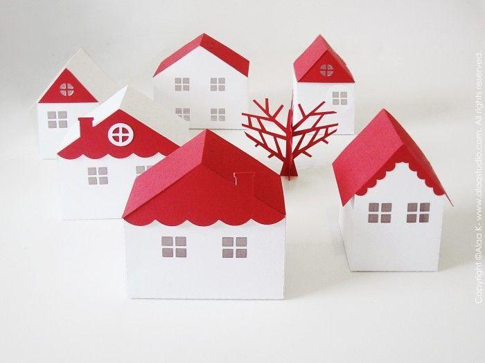 3d svg paper cuts - Google Search | 3D Papercrafts - Houses
