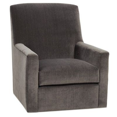 Rowe Furniture Owen Swivel Glider Color: Performance Chenille Driftwood