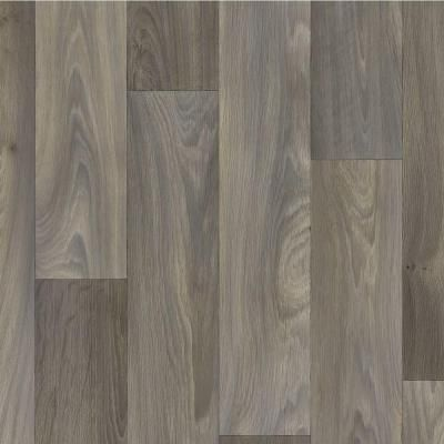 Trafficmaster 4 In Greyed Oak Plank 12 Ft Vinyl Sheet U8267 279c892p144 The Home Depot Oak Planks Vinyl Sheets Vinyl Sheet Flooring