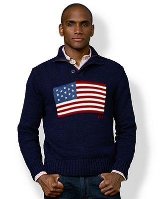 16cefbacc Polo Ralph Lauren Sweater, Mock Neck American Flag Sweater | Fresh ...