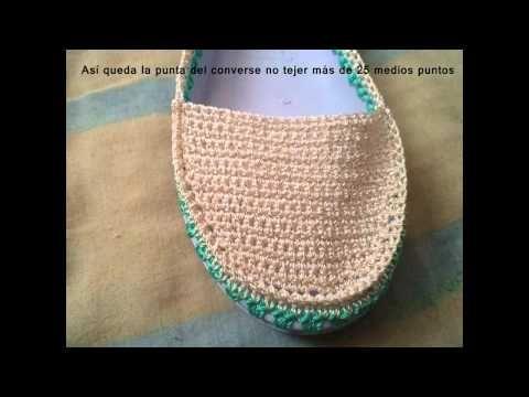 Proceso General Zapato frente circular - YouTube | tejidos zapatos ...