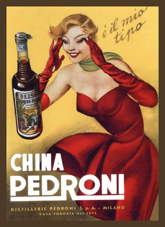 Beer Liquor Lady Birra Milano Italy Italia Vintage Poster Repro FREE SH
