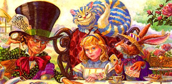 michelle Wiggins alice in wonderland | VINTAGE 1980s ALICE in Wonderland Book…