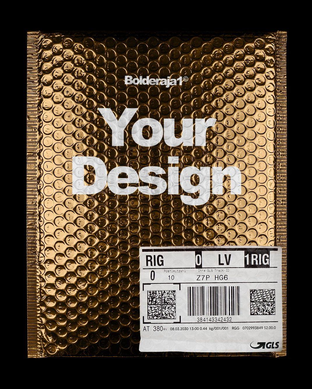 Download Gold Plastic Bag Mockup Plastic Bag Packaging Handmade Packaging Creative Packaging Design