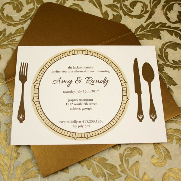 Invitation Template  Elegant Rehearsal Dinner Invitation  Dinner