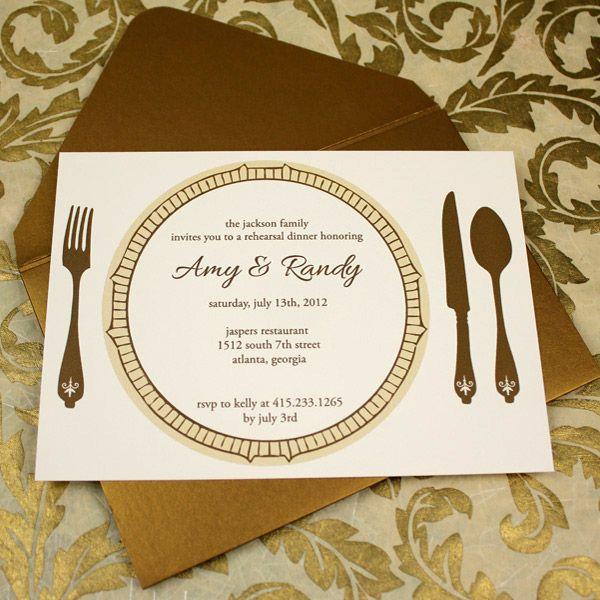 Invitation Template u2013 Elegant Rehearsal Dinner Invitation Dinner - best of formal invitation card for meeting