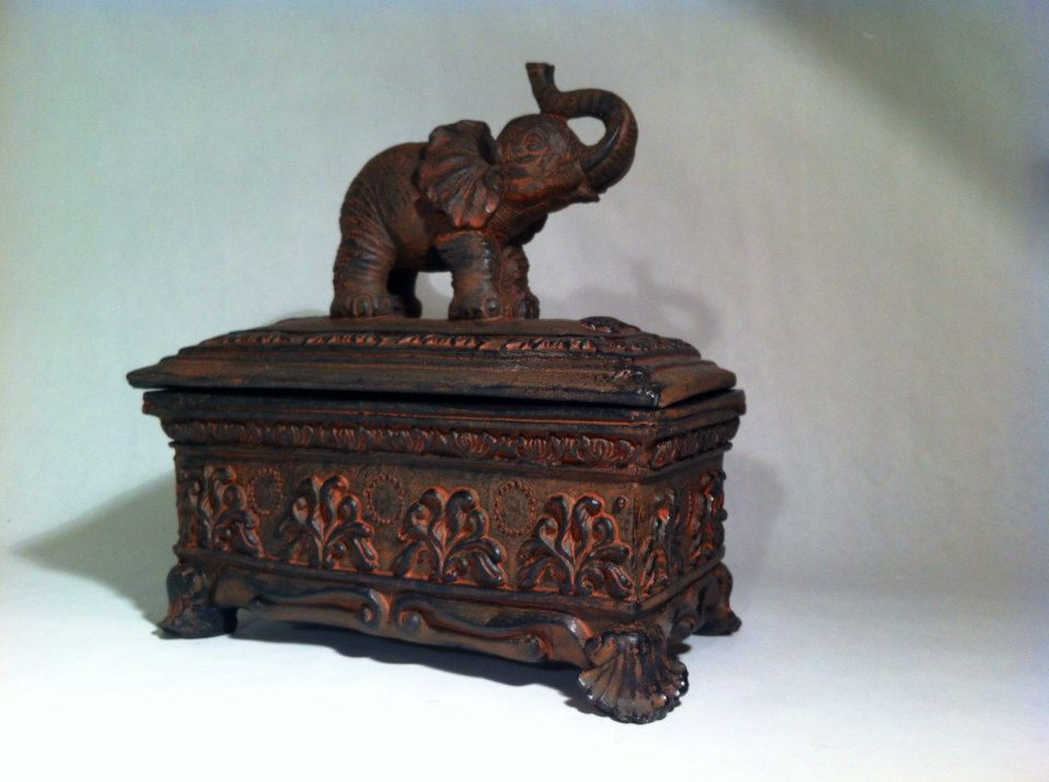 Elephant Jewelry Box Asian Indian Jewelry Organizer Accessory