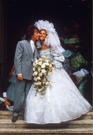e87911bd66f8 ... of the Rolling Stones and Mandy Smith on their wedding day at St John  the evangelist church in London, Britain - 1989. - Fashion Galleries -  Telegraph