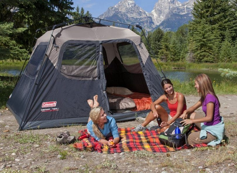 The Coleman 6 Person Instant Cabin Tent Makes Camping Easy So You