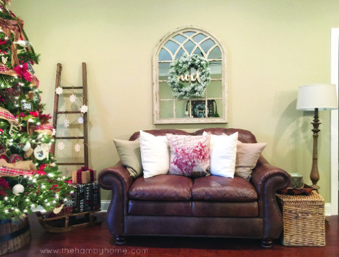 Weihnachten Wohnzimmer ~ Rustic traditional christmas living room decor all things