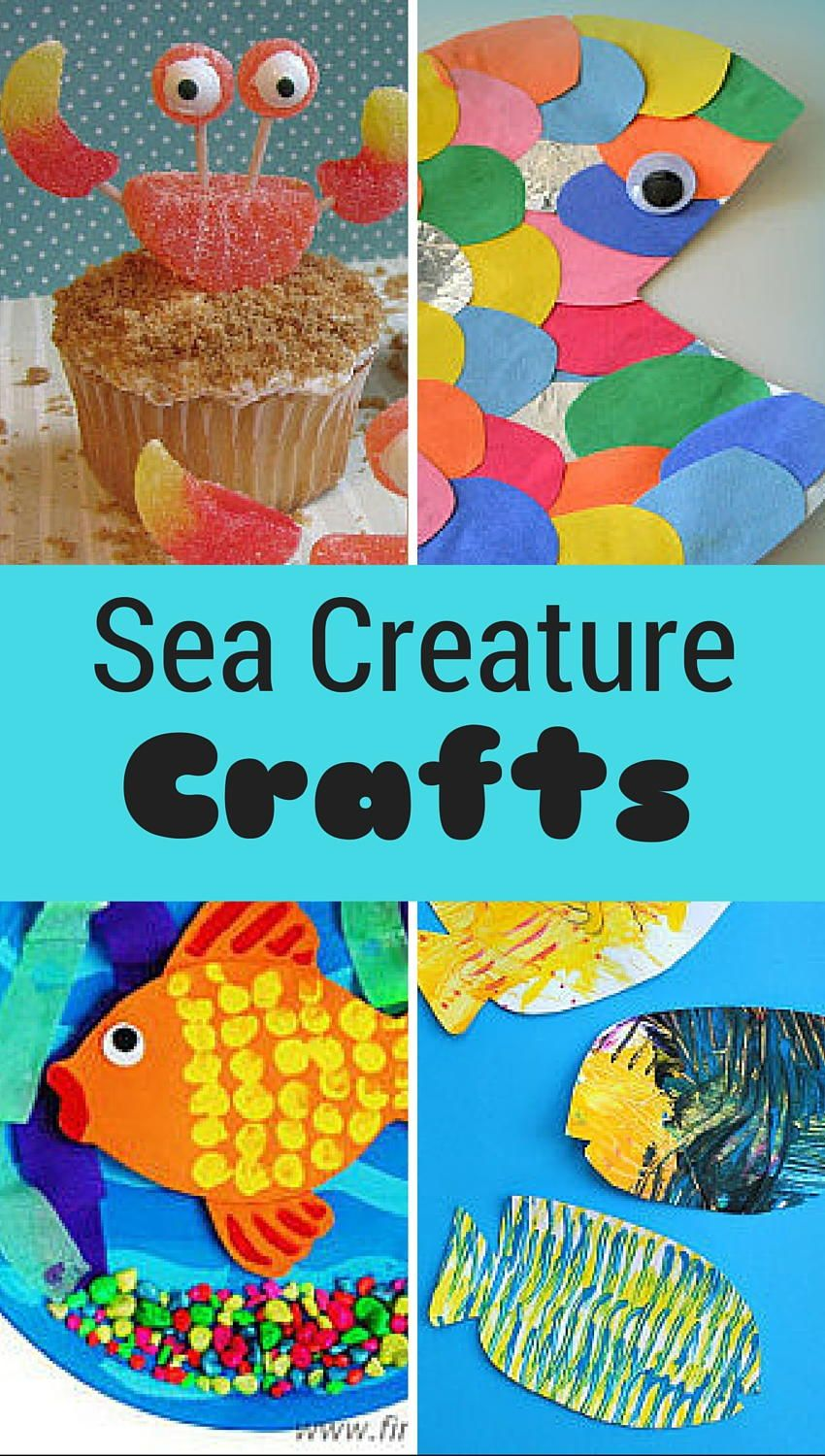 15 Sea Creatures for Kids to Make Animal crafts for kids