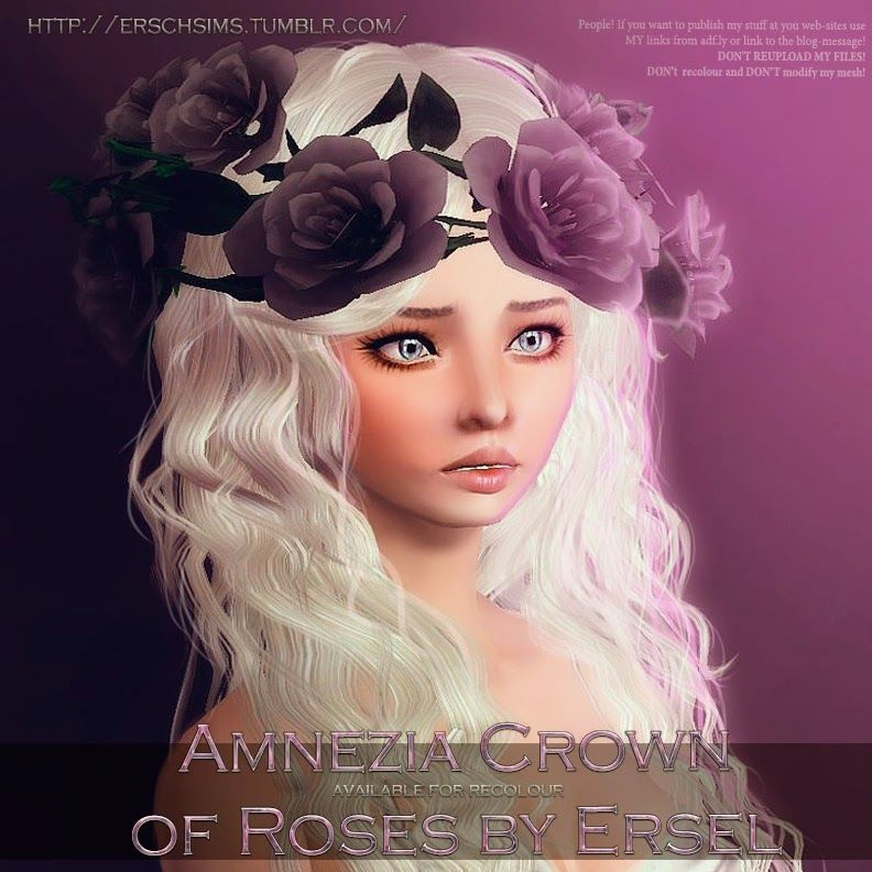 My Sims 3 Blog: Amnezia Crown of Roses by Ersel