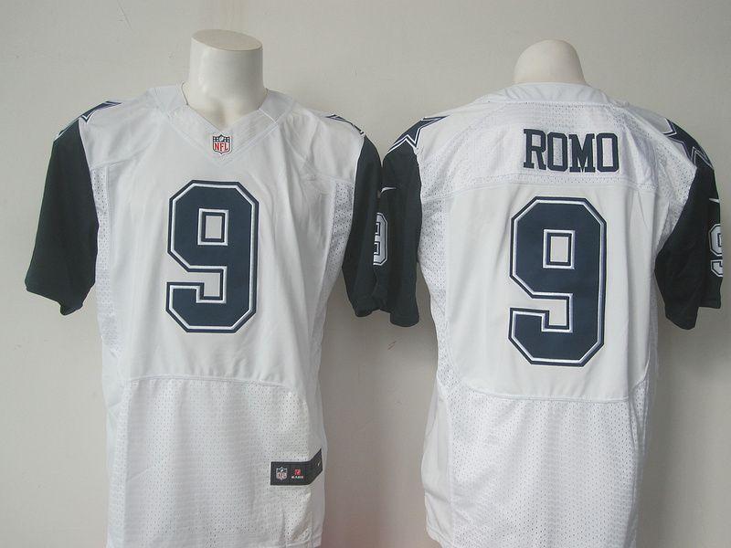 c518cd984 Dallas Cowboys 9 Tony Romo White 2015 Nike Stitched Elite Rush Jersey