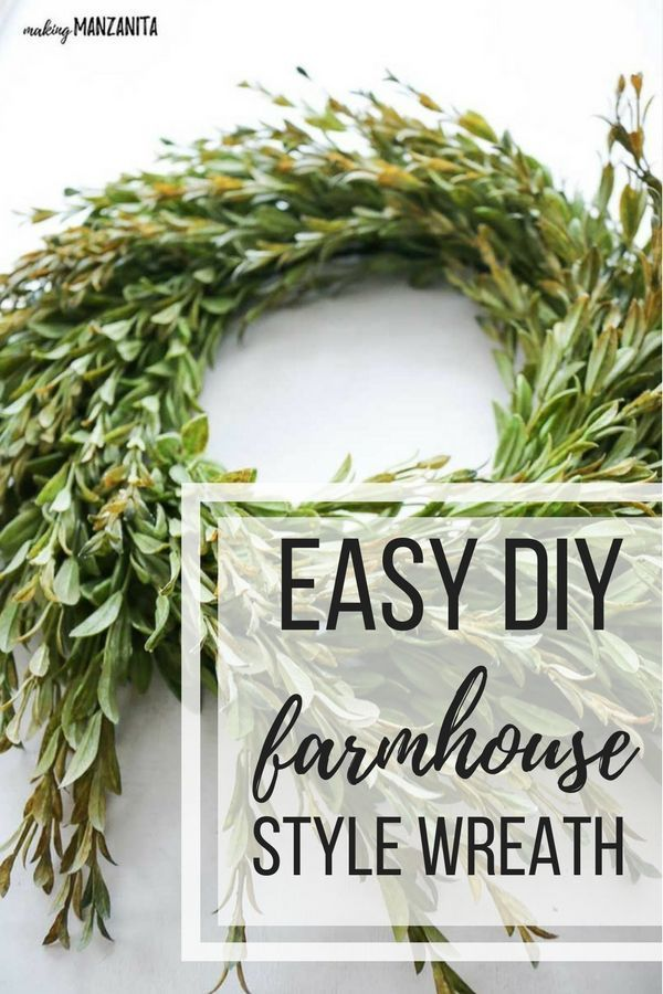 Info's : Everyone needs a little touch of greenery in their farm house style home! This easy DIY farmhouse style wreath is so simple to create to decorate in the beautiful farmhouse style. | Fixer Upper Style Greenery | Bring out your inner Joanna Gaines | How to make your own wreath | Farmhouse tutorials | Box wood | Tea leaf #farmhouse #wreath #fixerupper #diy
