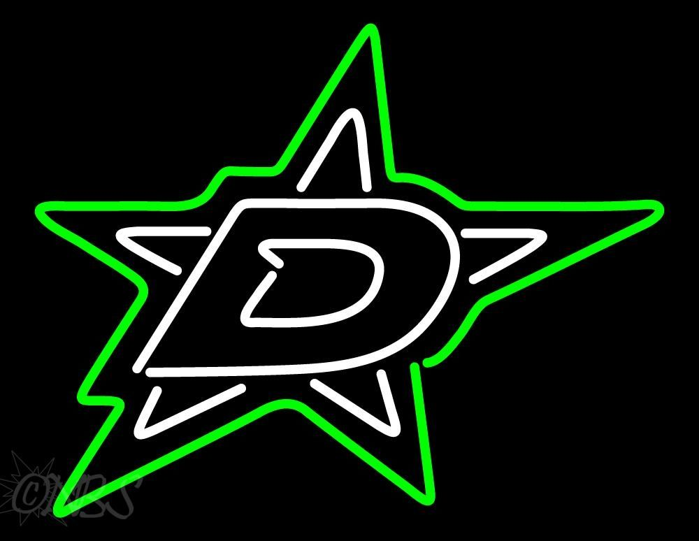 Neon Dallas Stars Beer Sign Dallas Stars Hockey Dallas Stars Neon Signs