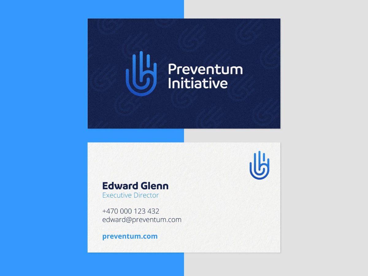 Preventum Initiative Brand Identity Graphic Design Business Card Brand Identity Business Card Design