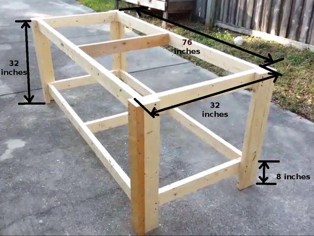 How To Build A Sturdy Workbench Inexpensively Etabli Bricolage Idee Bricolage Maison Etabli Bois
