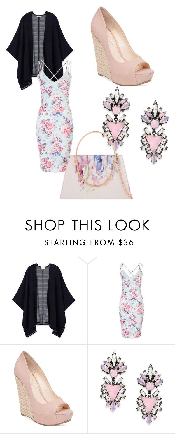 """""""Easter Sunday"""" by caroline-rose-preston ❤ liked on Polyvore featuring Tory Burch, Jessica Simpson, Erickson Beamon and Ted Baker"""