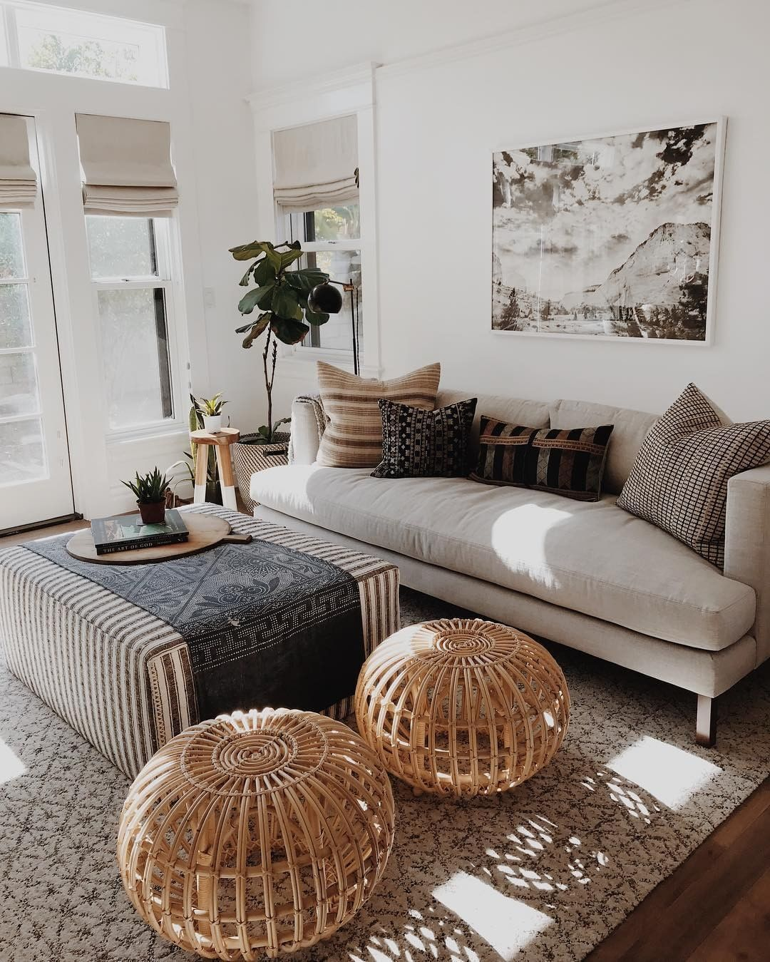 Boho Is Back For 2019 Living Room Area Rugs Neutral Living