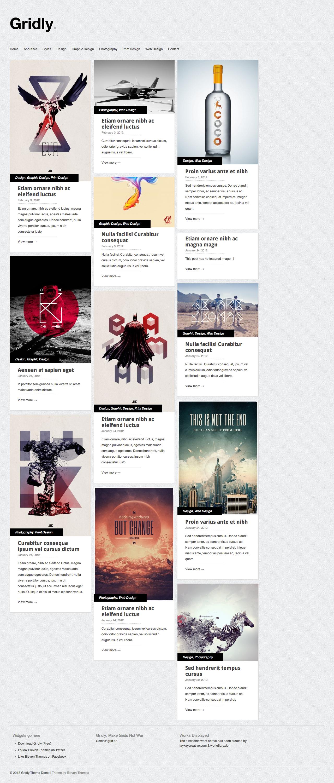 Gridly Wordpress theme #grid | GRAPHIC | Pinterest | Wordpress, Web ...