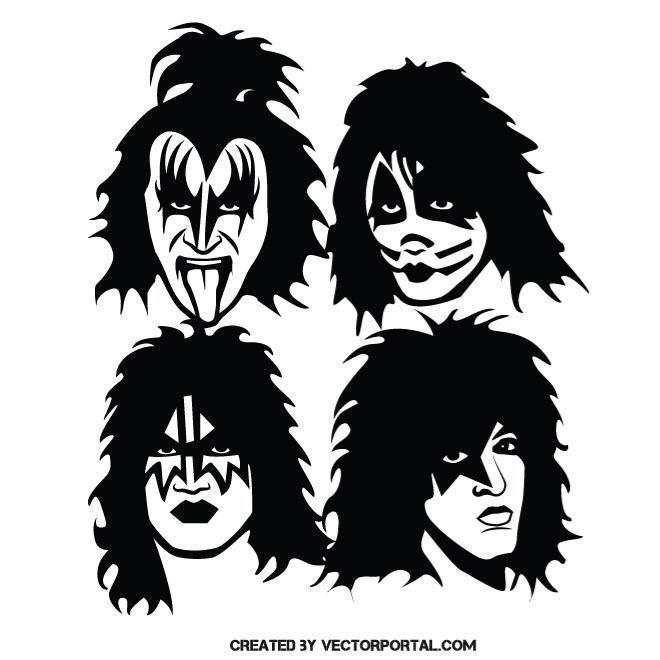 Music Band Kiss Vector Illustration Celebrity Vector