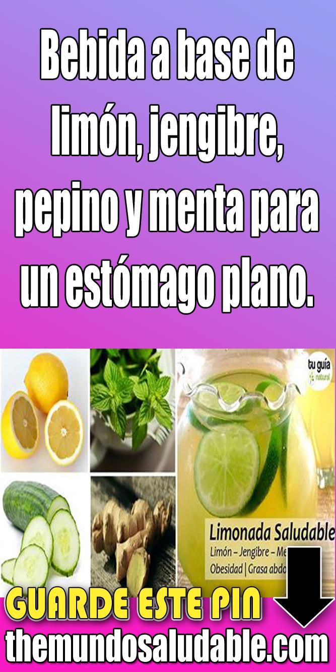 jengibre pepino limon y menta para adelgazar