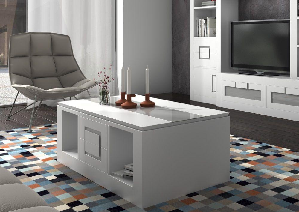 Muebles para el sal n brezo mesa centro blanco pvp 446 for Muebles lopez arevalo