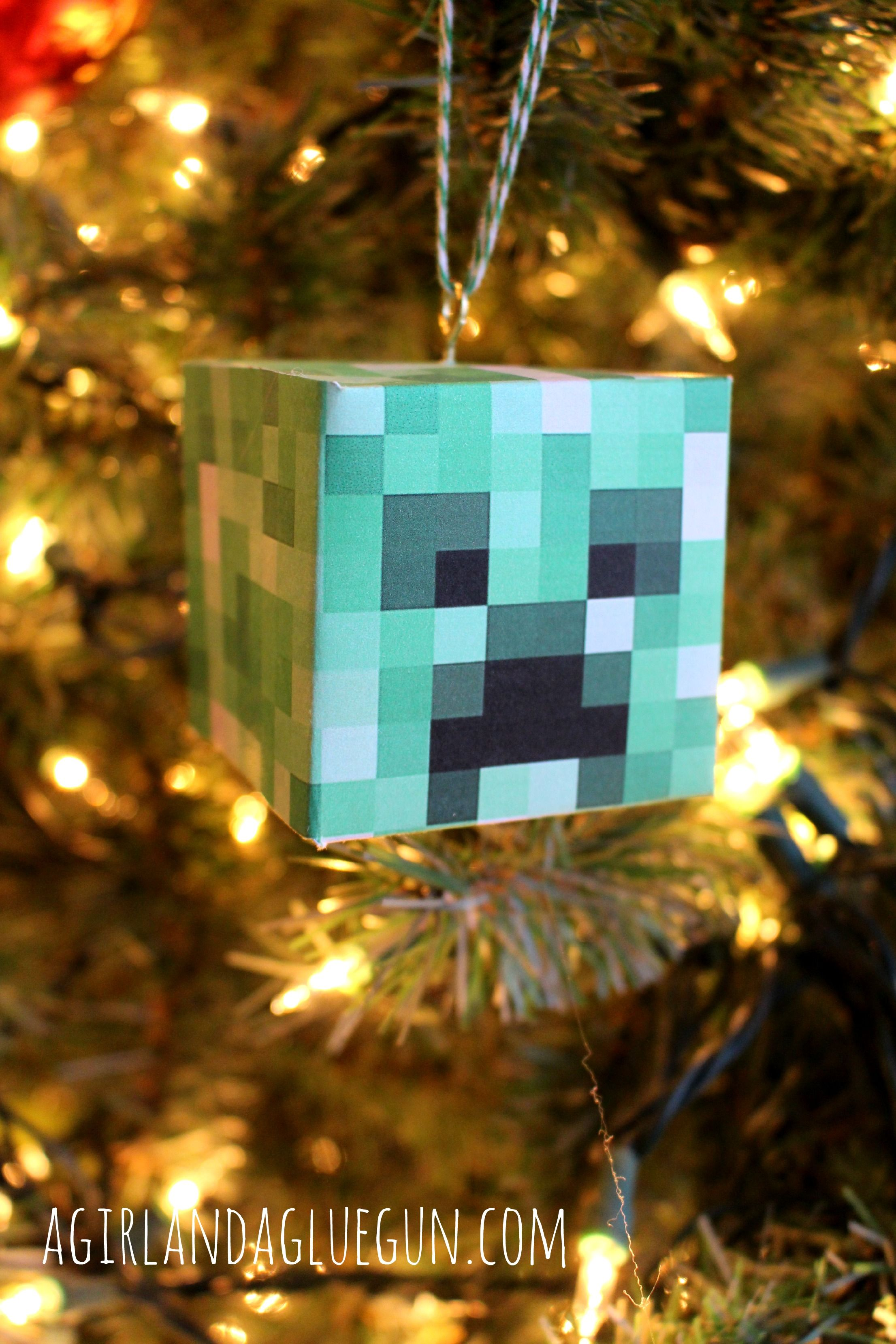 Christmas Minecraft Decorations.Diy Minecraft Ornament Kids Crafts Diy Christmas