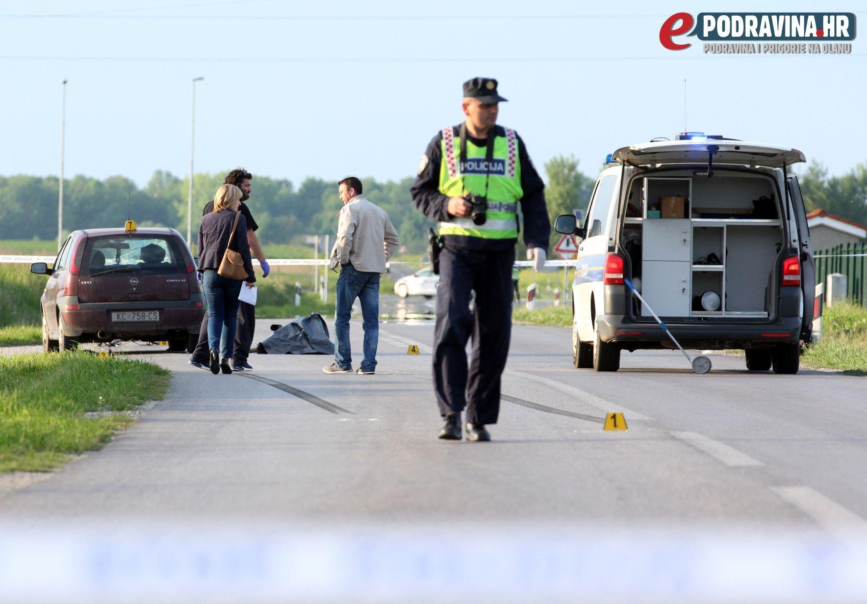 TEŠKA PROMETNA NESREĆA FOTO Autom naletio na biciklistu koji je na mjestu preminuo