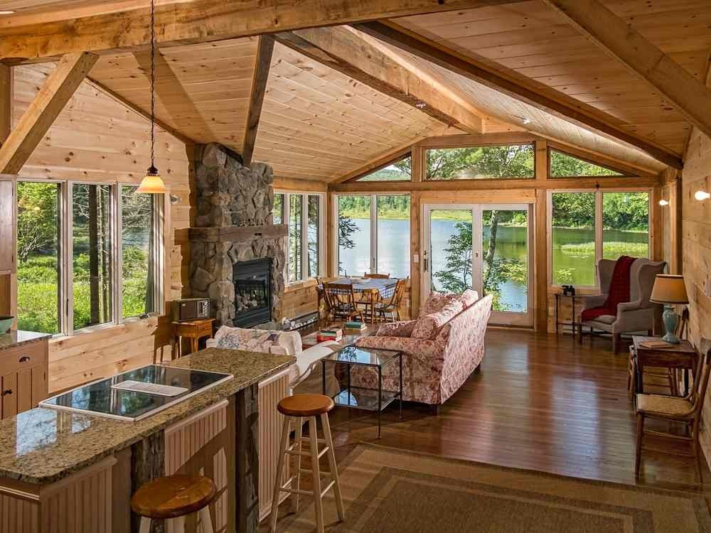 Lakefront Privacy And Romance Found At Camp Stardust Piseco Waterfront Cabins Cabin Cabin Rentals