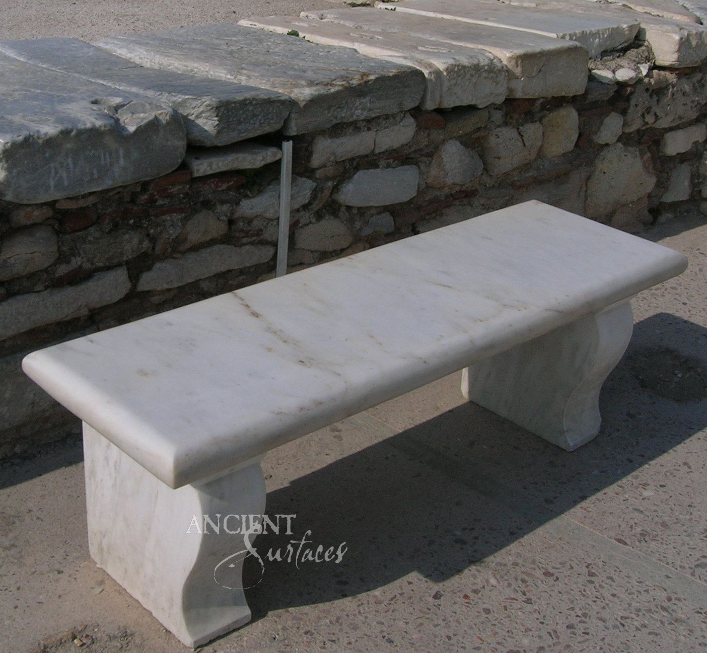 Limestone Bench Part - 23: Antique Limestone And Marble Benches By Ancient  Surfaceshttp://www.ancientsurfaces.com