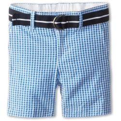 Tommy Hilfiger Kids - Gingham Seersucker Short (Toddler/Little Kids) (Nazar Blue) - Apparel - product - Product Review