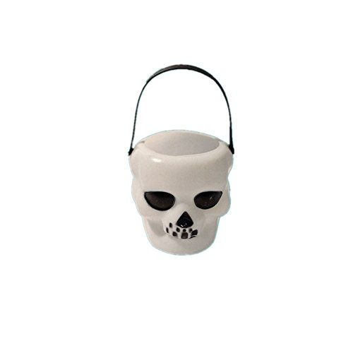 UniquQ Fancy Pumpkin Bucket with Handle Pot Candy Holder Hallowmas - halloween decorations skeletons