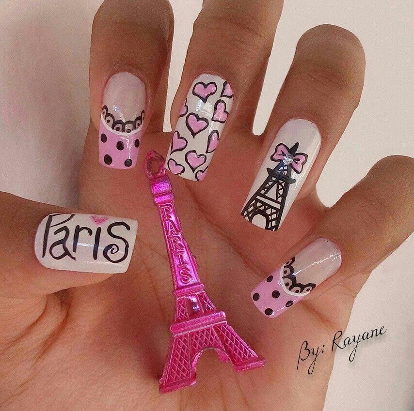 Unhas Decoradas Paris Uñas Rojas Uñas Pintadas Y Uñas