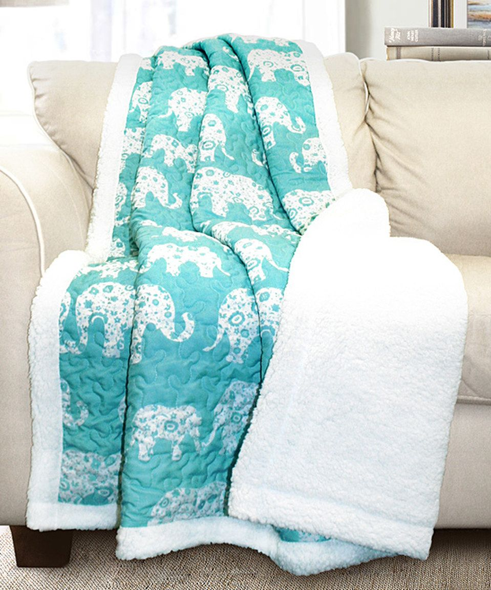 Another Great Find On Zulily Aqua Elephant Parade Sherpa
