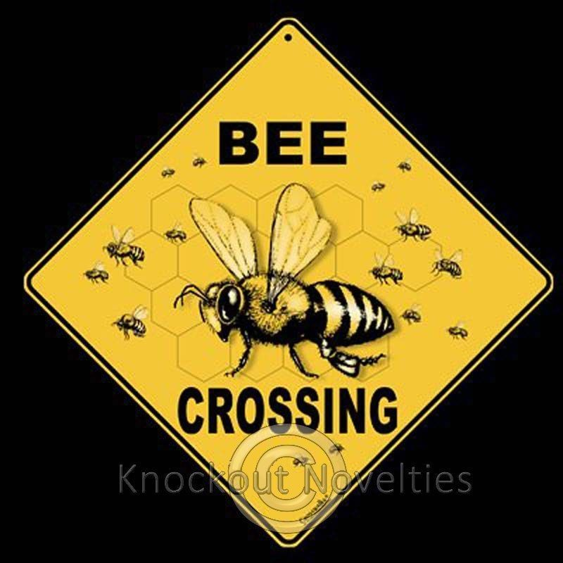 $13.83 - Bee Crossing Funny Novelty Sign Decor Decoration #ebay ...