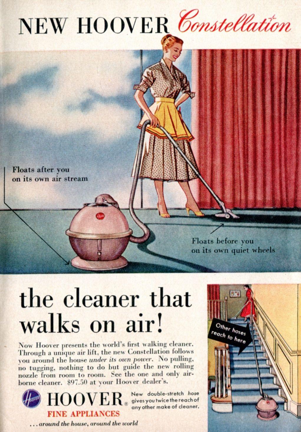 1956 Hoover Constellation Hoover, Vintage vacuum cleaner