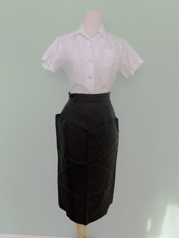 a6da77f0c 1950s Waitress Uniform Blouse and Skirt Set by lilpearl on Etsy, $65.00