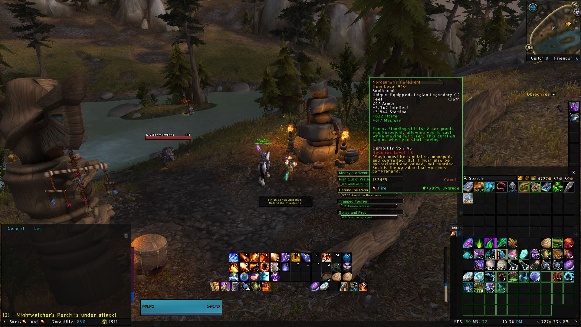 I just got a legendary while questing at 105 in Highmountain