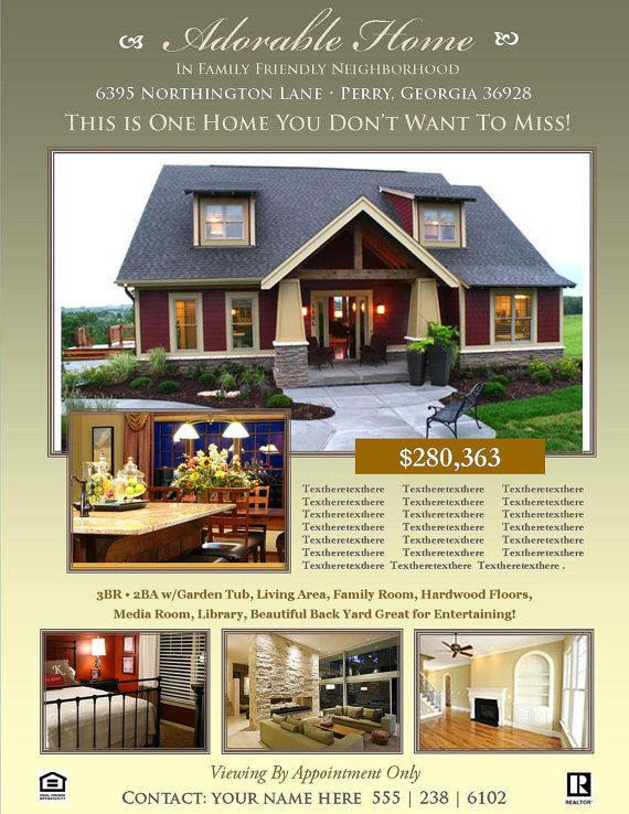 Real Estate Flyer Template Printable Real Estate Flyer Sell Your
