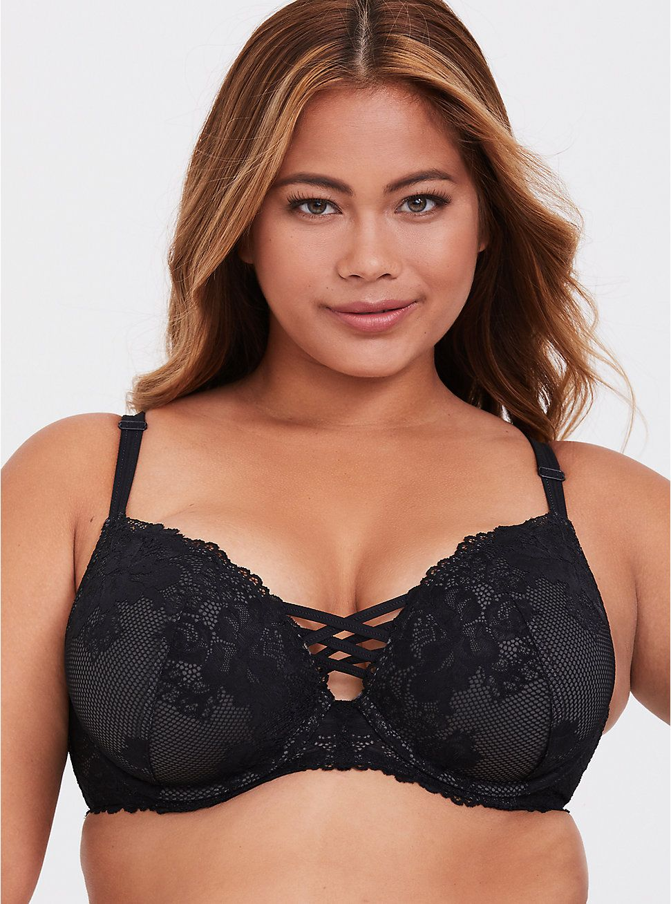 fa0fd8f1a0746 Black   Silver Corset Push-Up Plunge Bra in 2019