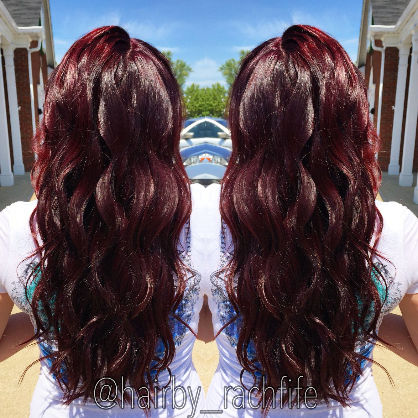 red violet cherry cola hair. hair
