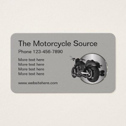 Cool Motorcycle Theme Business Card Cycling Gifts Cycling