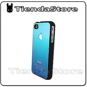 Carcasa funda ALUMINIO iPhone 4 /4 S azul (varios colores)