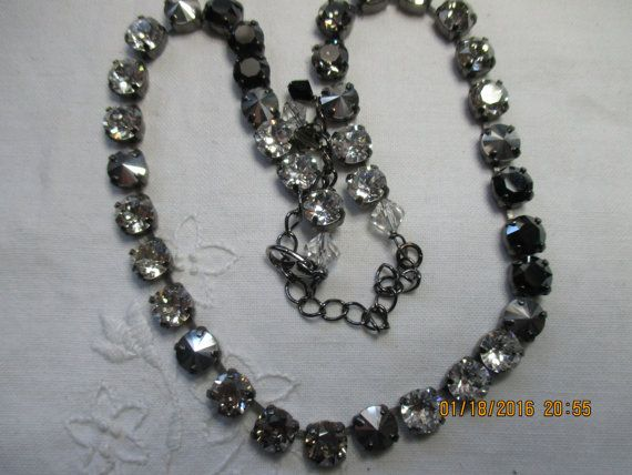 """HALEY""S COMET COLLECTION""    Beautiful!!! Stunning!! Statement Piece!!!    This 8M style Necklace features Crystal, Crystal Satin, Comet Argent Light {Silver} Jet, & Hematite.    Haley's Comet is truly a knockout sparkler,  truly a one of a kind piece, the pictures don't do it any justice.     I also have the Bracelet to match listed in my shop!    This listing is for the Necklace only!!! 