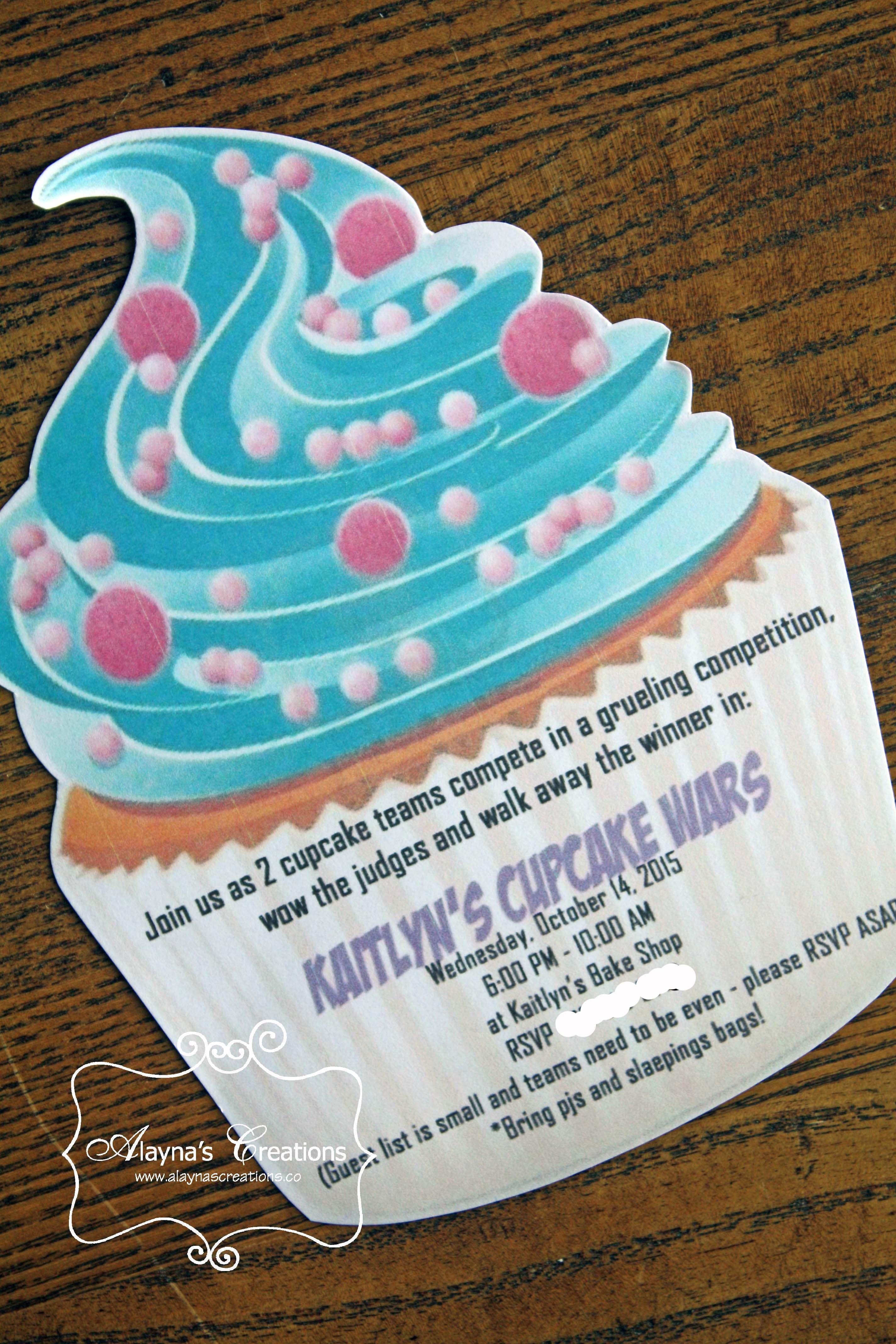 Cupcake Wars Birthday Party - Invitation | Party invitations ...