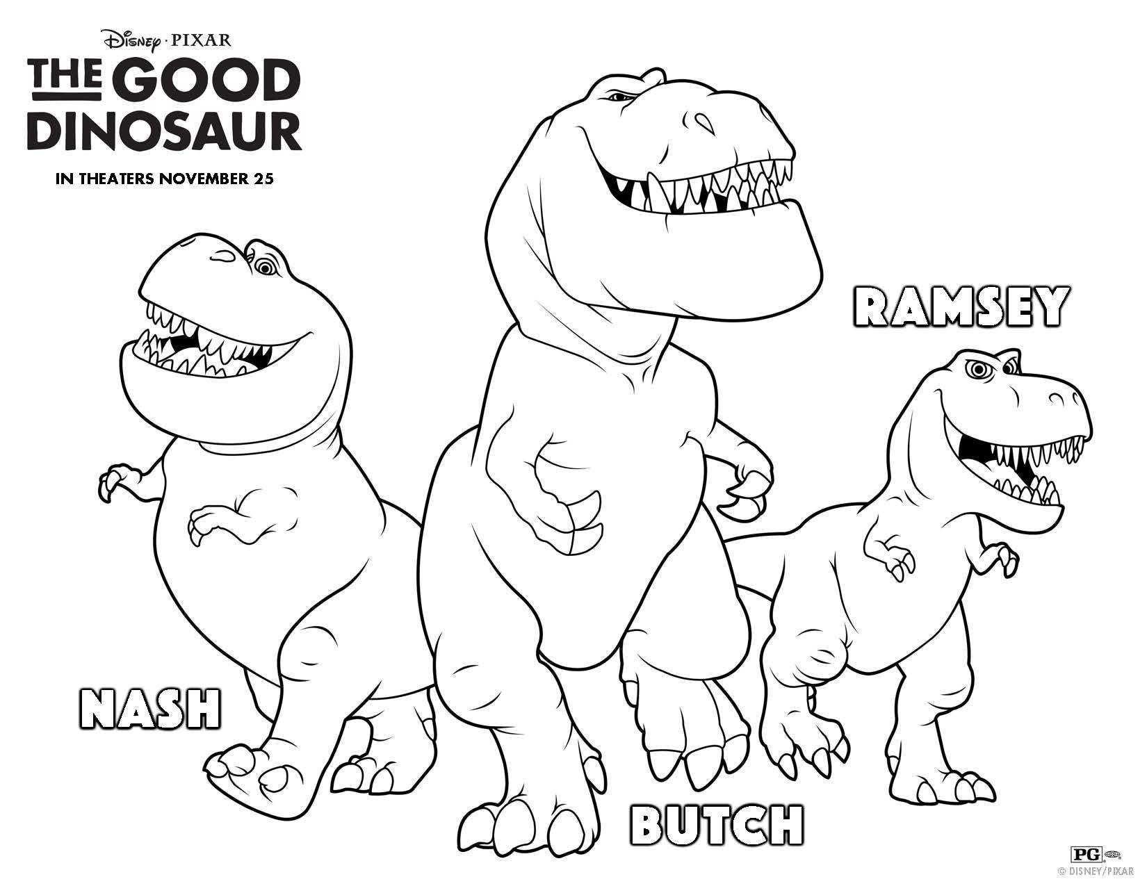 The Good Dinosaur Free Printables Coloring Sheets And Activity