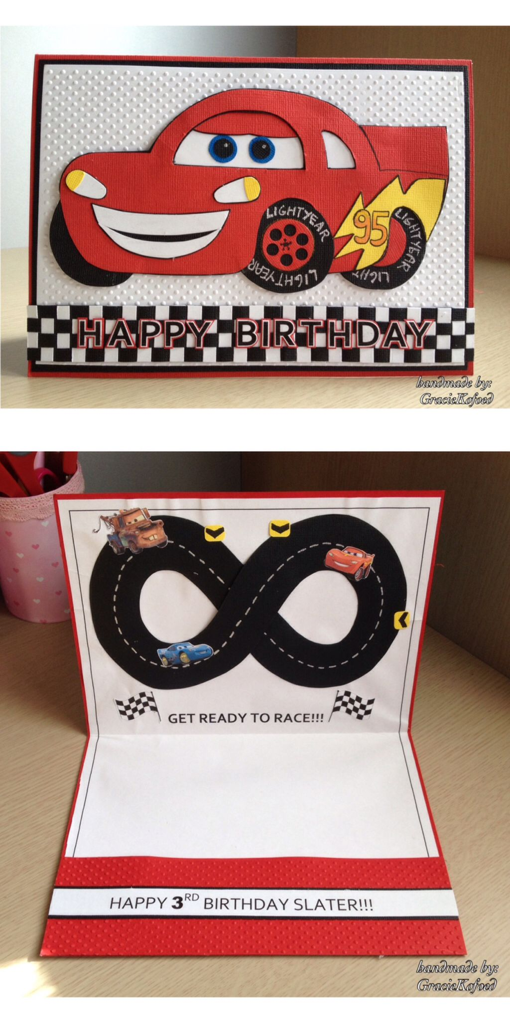 Pixars The Cars Theme Birthday Card By GracieKofoed
