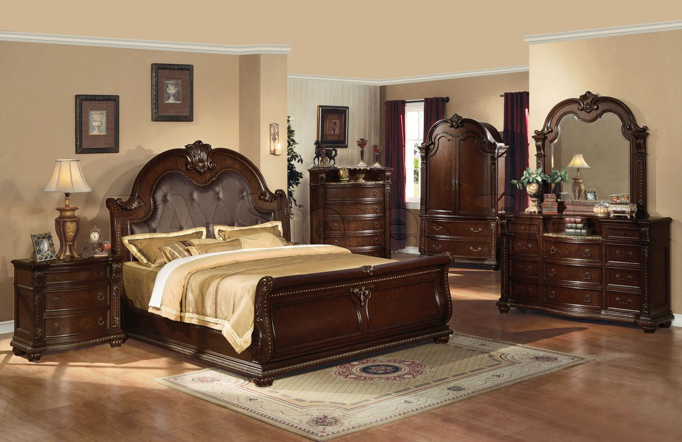 coronado king-size sleigh bed by a.r.t. furniture inc - wolf